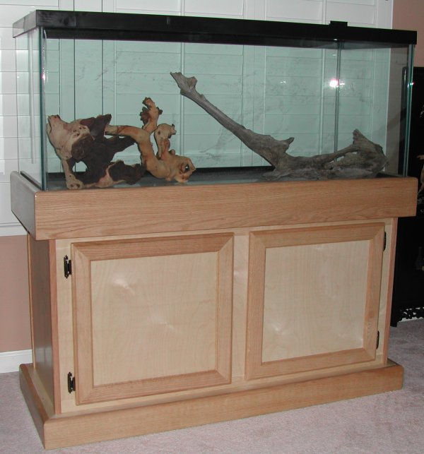 Fish tank stand wood rustic reclaimed pallet wood fish for Fish tank table stand